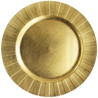 """Jay Companies 1182772 Gold Burst Melamine 13"""" Charger Plate"""
