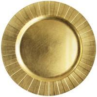 "Jay Import 1182772 Gold Burst Melamine 13"" Charger Plate"