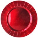 "Jay Import 1182774 Red Burst Melamine 13"" Charger Plate"