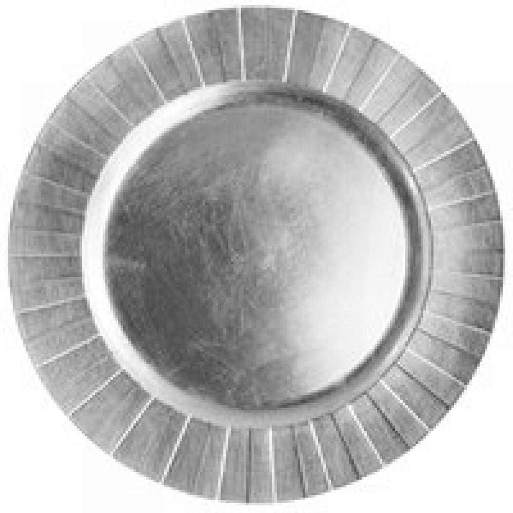 "Jay Import 1182773 Silver Burst Melamine 13"" Charger Plate"
