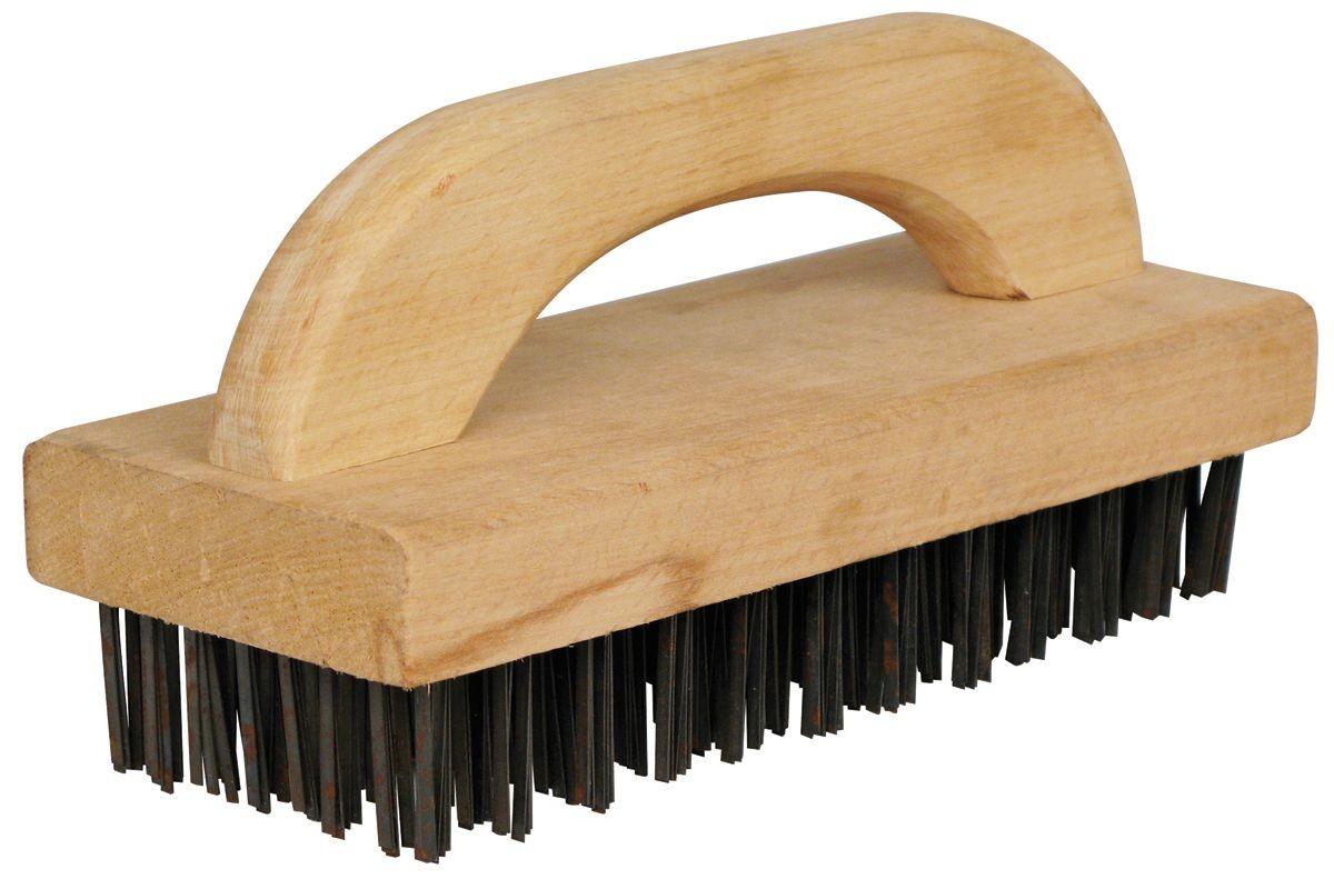 "Winco BR-9 Butcher Block Brush 9 1/4"" x 3 3/4"" x 1"""