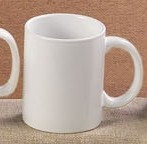 CAC China MUG-C12 Super White C-Handle Mug 12 oz.