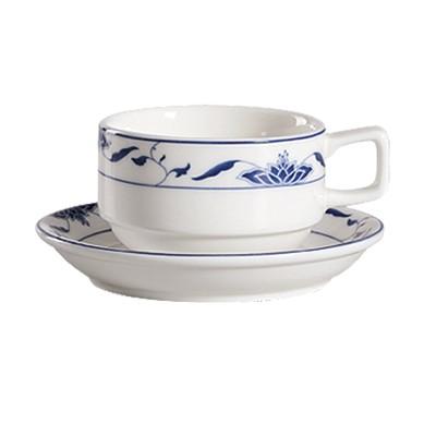 CAC China 103-2 Blue Lotus Saucer 5-1/2