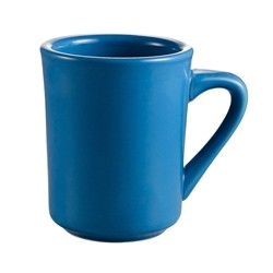 CAC China TM-8-LB Las Vegas Blue Tierra Mug 8 oz.