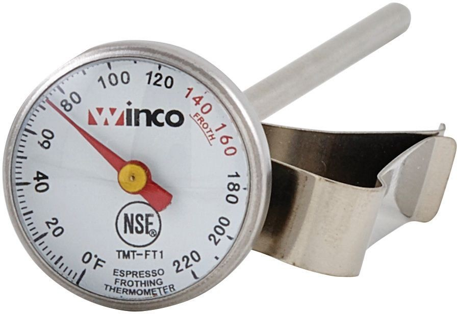 Winco TMT-FT1 Calibrated Dial-Type Frothing Thermometer
