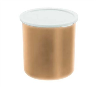 Franklin Machine Products  247-1063 Cambro 1.2 Qt. Beige Plastic Crock with Lid