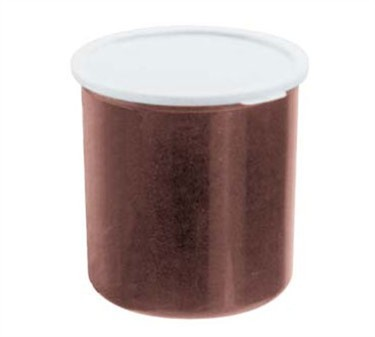 Franklin Machine Products  247-1062 Cambro 1.2 Qt. Brown Plastic Crock with Lid