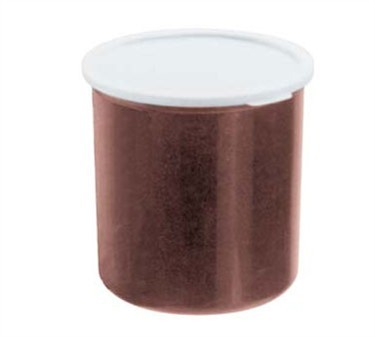 Cambro 2.7 Qt. Brown Plastic Crock With Lid