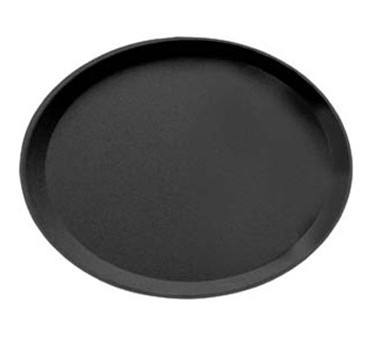 Cambro Camtread Oval Non-Skid Black Tray - 22