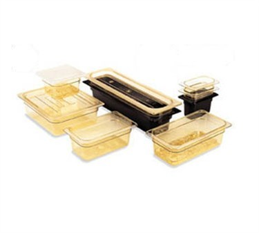 """Franklin Machine Products  247-1190 Cambro Camwear Amber Fourth-Size H-Pan 4"""" Deep"""