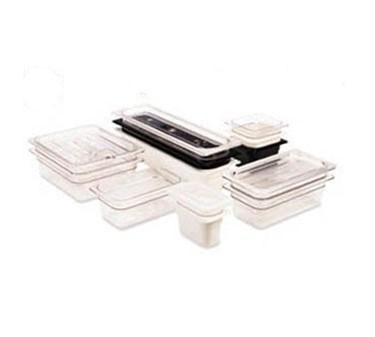 "Franklin Machine Products  247-1154 Cambro Camwear Clear Half-Size Food Pan 4"" Deep"