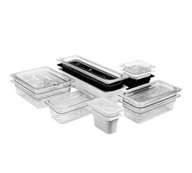 """Franklin Machine Products  247-1135 Cambro Camwear Clear Ninth-Size Food Pan 4"""" Deep"""
