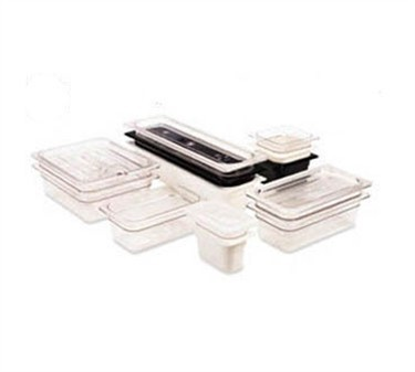 "Franklin Machine Products  247-1208 Cambro Camwear Clear Third-Size Food Pan 4"" Deep"
