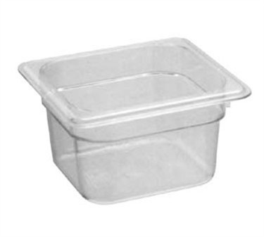 Cambro Camwear Sixth-Size Clear Food Pan - 4