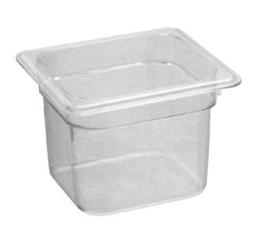 Franklin Machine Products  247-1058 Cambro Camwear Sixth-Size Clear Food Pan
