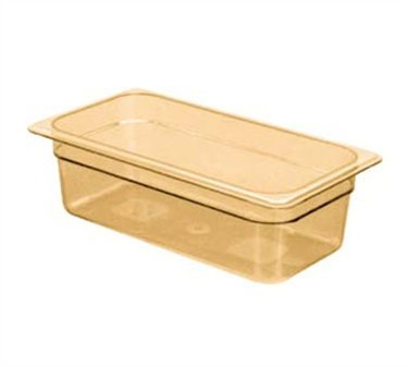 "Franklin Machine Products  247-1059 Cambro Camwear Third-Size Amber Food Pan 4"" Deep"