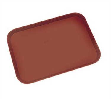 "Franklin Machine Products  247-1048 Cambro Fastfood Brown Rectangular Tray 10-1/2"" x 13-1/2"""
