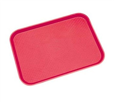 "Franklin Machine Products  247-1051 Cambro Fastfood Red Rectangular Tray 12"" x 16"""