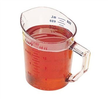 Franklin Machine Products  247-1082 Camwear Clear Measuring Cup 1 Pint Dry Measure