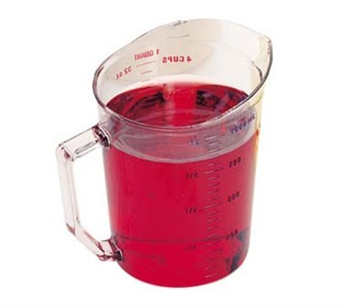 Franklin Machine Products  247-1083 Camwear Clear Measuring Cup 1 Qt. Dry Measure