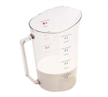 Franklin Machine Products  247-1085 Camwear Clear Measuring Cup 4 Qt.s Dry Measure