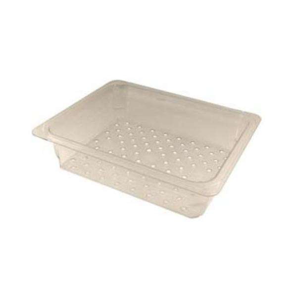 "Franklin Machine Products  247-1218 Camwear Half-Size Clear Polycarbonate Colander 3"" Deep"