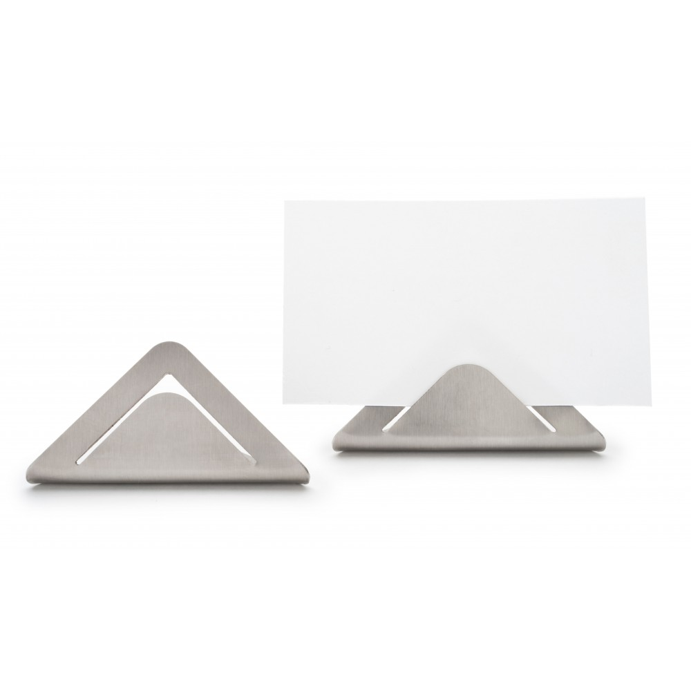 "Rosseto SM196 Card/Sign Holder Stainless Steel- 1.3"" x 2.6"" x 1.2""H"