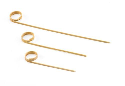 "TableCraft BAML35 Bamboo Card Holder Pick, 3.5"" (12 packs of 100)"