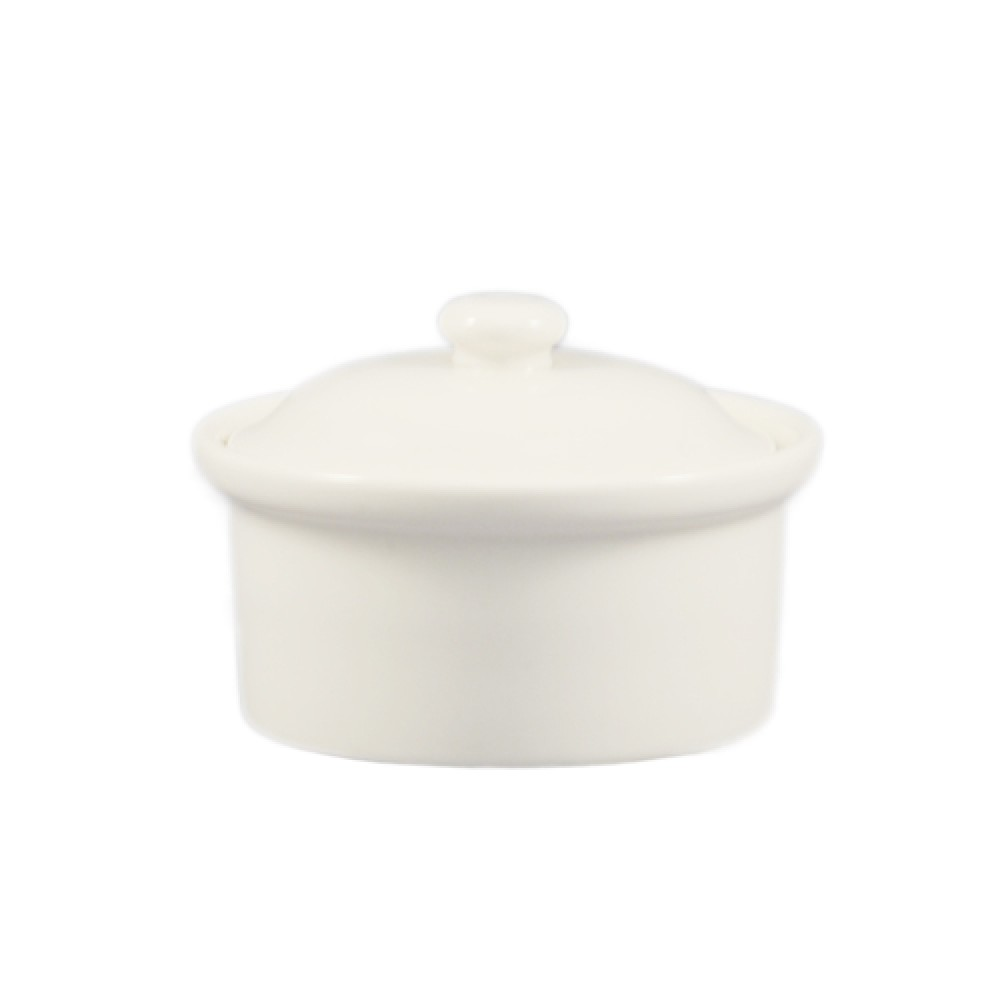 "CAC China CAS-10 Casserole with Lid 5-1/4"" x 2-1/2"""