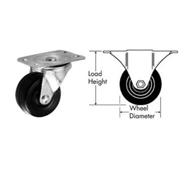 Caster, Plate (2, Swl, Blk )