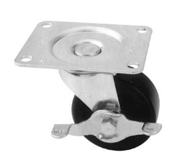 Franklin Machine Products  269-1007 Caster, Plate (3 Swl, with Brk)