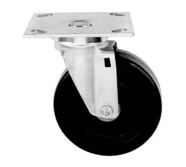 Franklin Machine Products  232-1060 Caster, Plate (5 Swivel, with Brk)