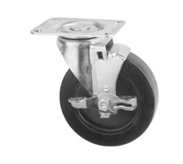 Franklin Machine Products  235-1051 Caster, Plate (5Swivel, with Brake)