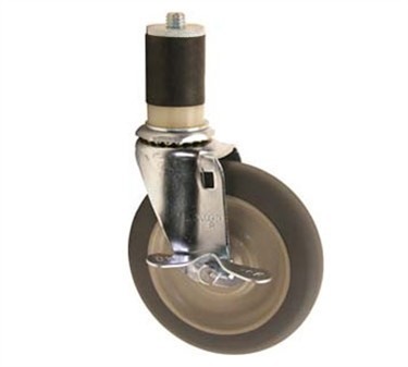 Franklin Machine Products  120-1027 Caster, Stem (3-1/2, with Brk, Gry )