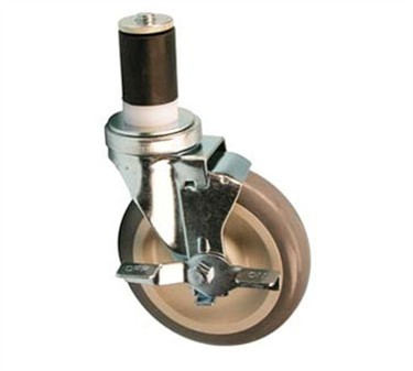 Franklin Machine Products  120-1125 Caster, Stem (5, with Brk, Gry )
