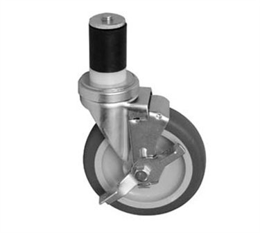Franklin Machine Products  120-1137 Caster, Stem (5, with Brk, Gry )