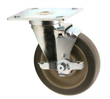 Franklin Machine Products  180-1018 Caster, Swivel (5Plt Mt, with Brk)