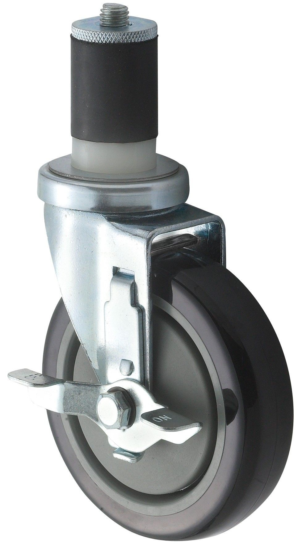 Casters With Brake, Fits Standard 1 5/8