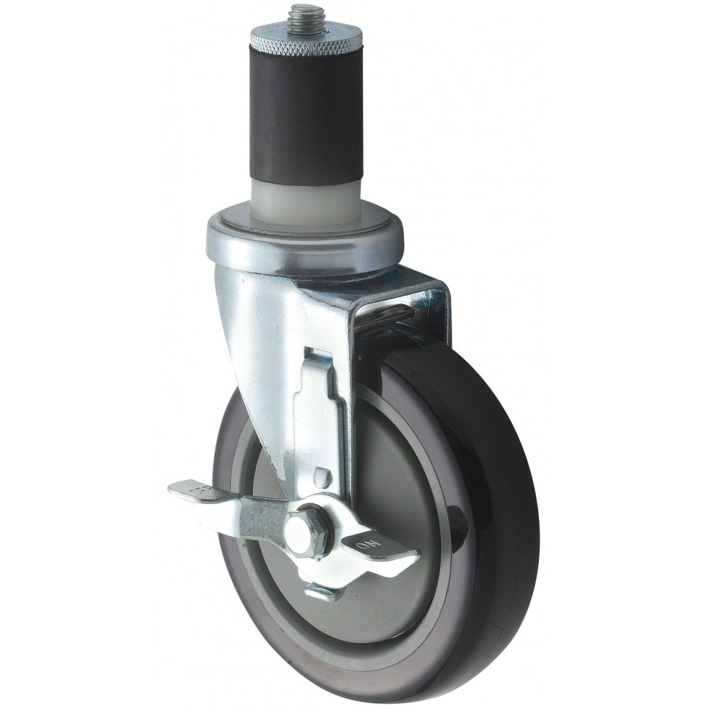 "Winco ct-1b 5"" Stem Caster with Brake for 1-5/8"" or 1-1/2"" Tubing"