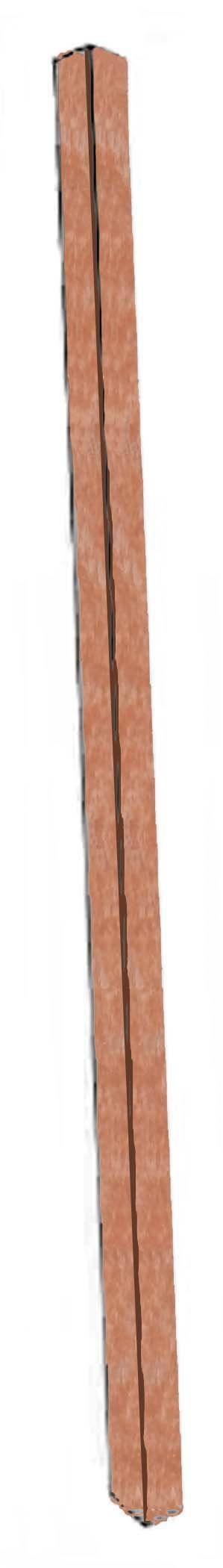 Aarco Products SPP-5 Cedar Plastic Lumber Single Post