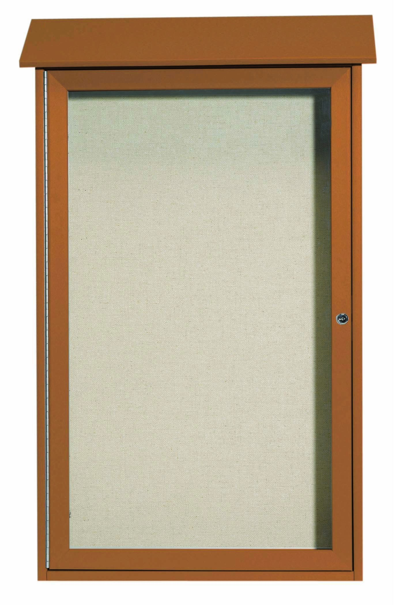 "Aarco Products PLD4226-5 Cedar Single Hinged Door Plastic Lumber Message Center with Vinyl Posting Surface, 42""H x 26""W"