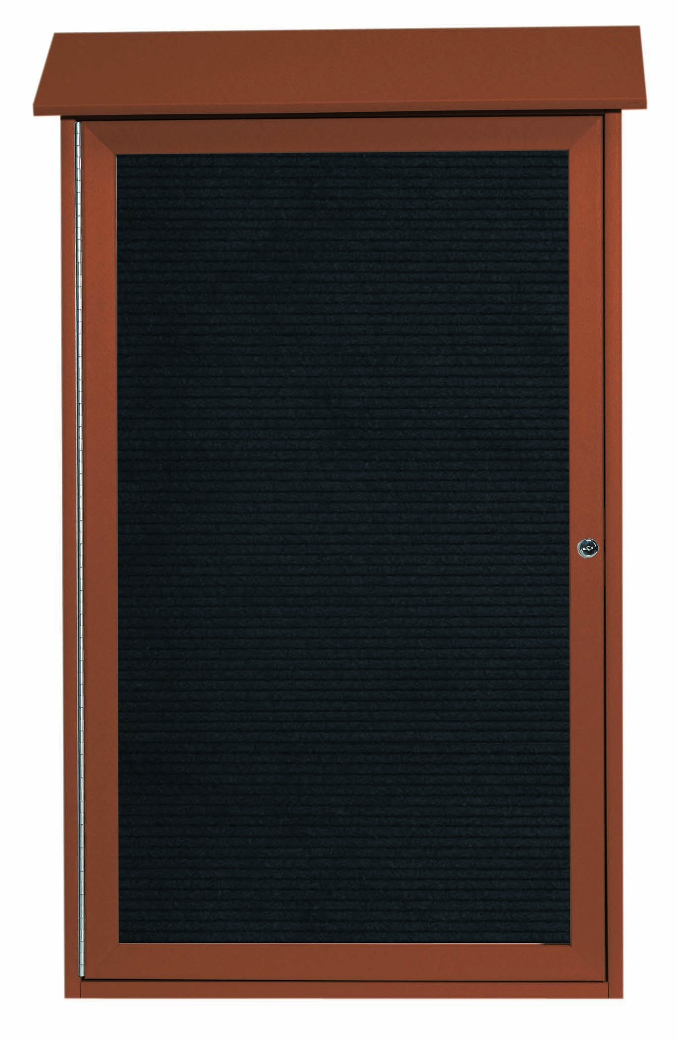 """Aarco Products PLD4226L-5 Cedar Single Door Plastic Lumber Message Center with Letter Board, 42""""H x 26""""W"""