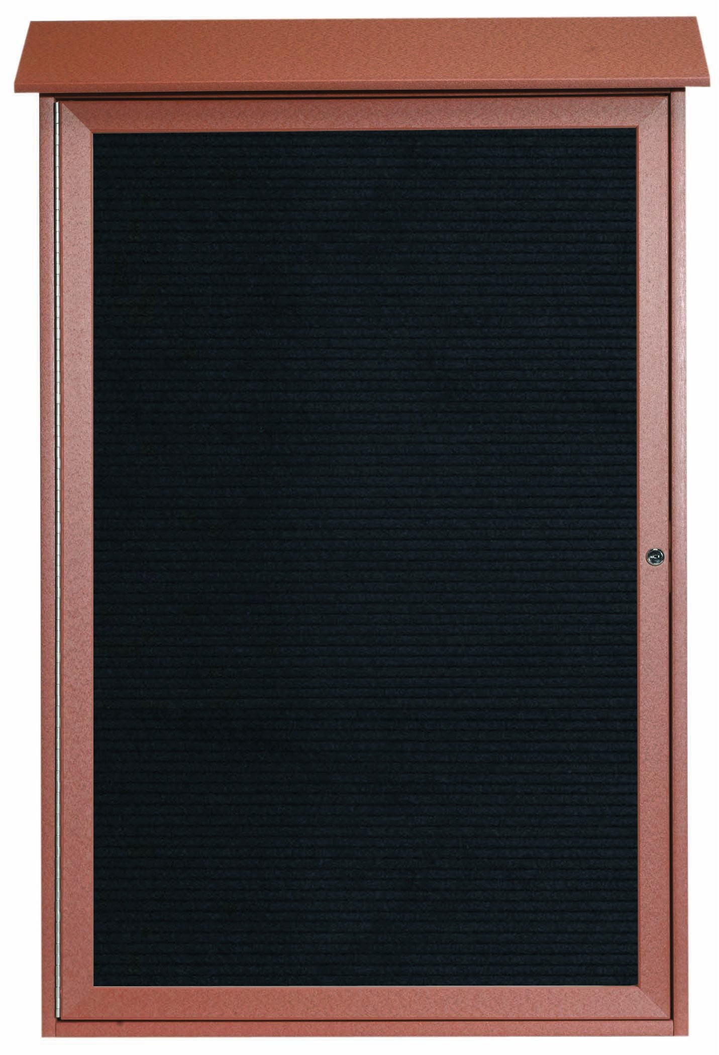 "Aarco Products PLD4832L-5 Cedar Single Hinged Door Plastic Lumber Message Center with Letter Board, 48""H x 32""W"