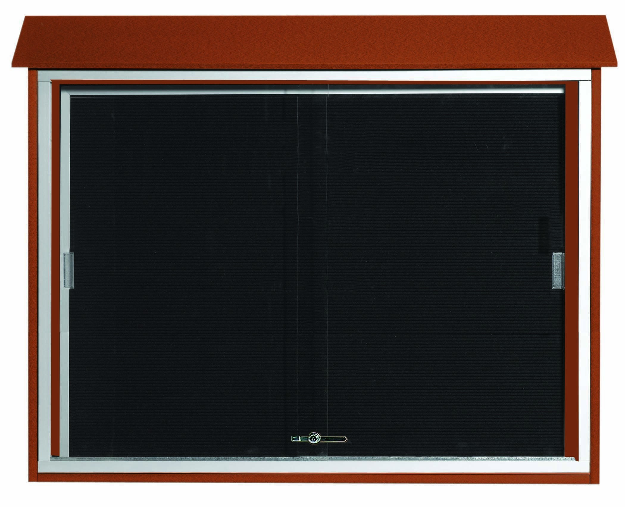 """Aarco Products PLDS3645L-5 Cedar Sliding Door Plastic Lumber Message Center with Letter Board, 36""""H x 45""""W"""