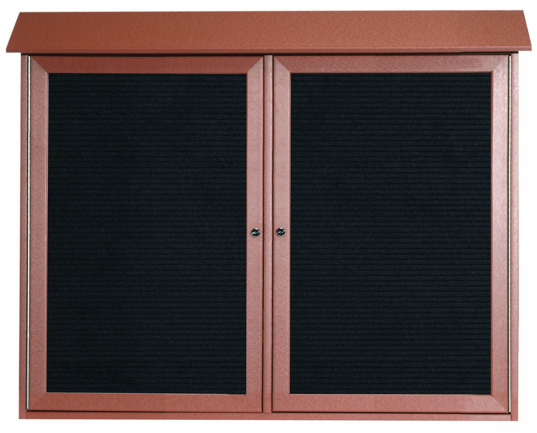 Cedar Two Door Hinged Door Plastic Lumber Message Center with Letter Board-36