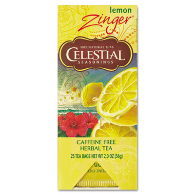 Celestial Seasonings Tea, Herbal Lemon Zinger, 25/Box