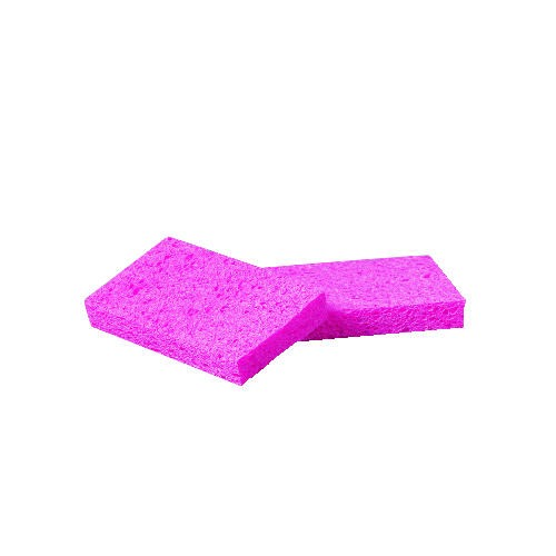 Cellulose Sponge Small, 3.6 X 6.5 X .9, Pink