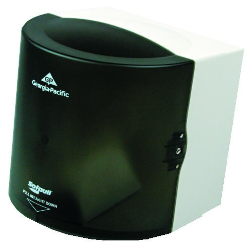 Center-Pull Towel Dispenser, Regular Capacity, Translucent Smoke