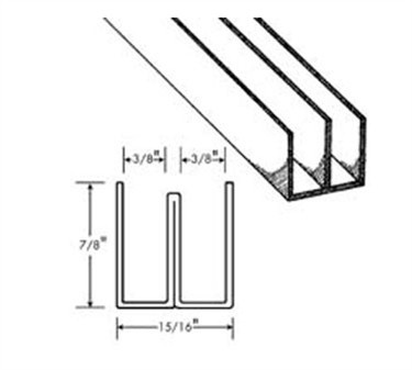 Franklin Machine Products  134-1063 Channel, Sliding Door (Alum, 6' )
