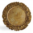 "Jay Import 1320377 ChargeIt! by Jay Aristocrat Antique Gold 14"" Charger Plate"